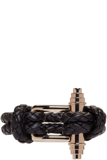 Givenchy - Black Braided Obsedia Bracelet