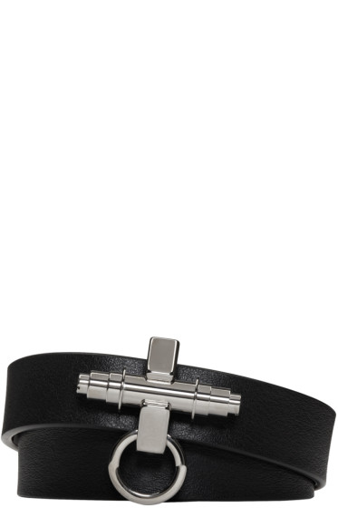 Givenchy - Black Three Row Obsedia Bracelet