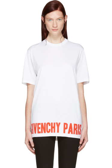 Givenchy - White Logo T-Shirt