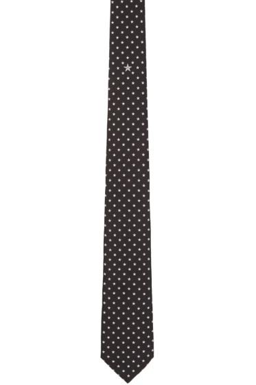 Givenchy - Black & White Stars Tie