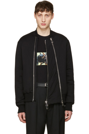 Givenchy - Black Padded Bomber Jacket