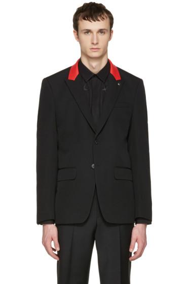 Givenchy - Black Slim Contrast Lapel Blazer