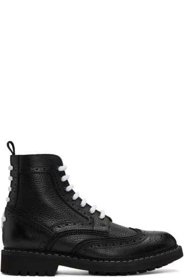 Givenchy - Black Commando Derby Boots