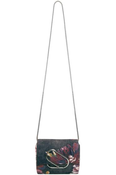 3.1 Phillip Lim - Blue Victorian Rose Micro Alix Bag