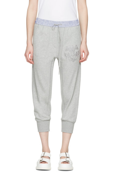 3.1 Phillip Lim - Grey Embroidered Lounge Pants