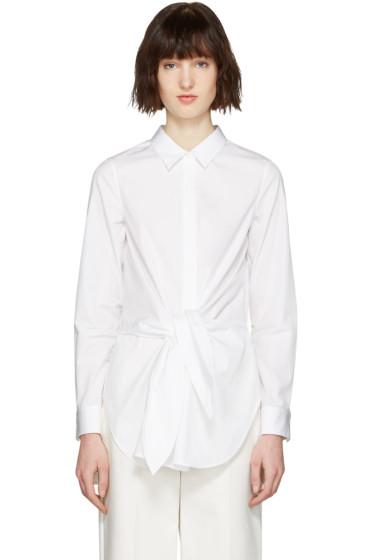 3.1 Phillip Lim - White Front Knot Shirt
