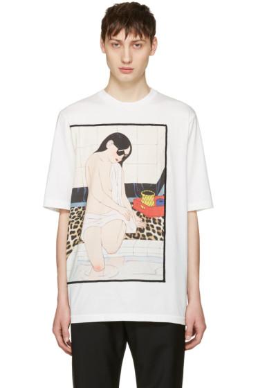 3.1 Phillip Lim - White Woman Leopard T-Shirt