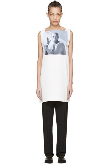 Raf Simons - White Robert Mapplethorpe Edition Dennis Speight Dress