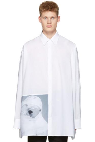 Raf Simons - White Robert Mapplethorpe Edition 'White Gauze' Oversized Shirt