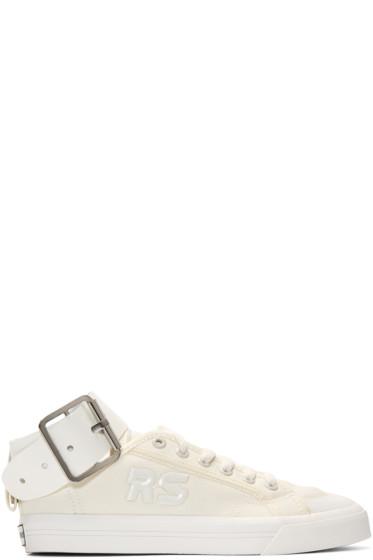 Raf Simons - White adidas Originals Edition Spirit Buckle Sneakers