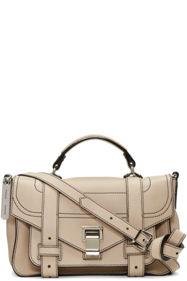 Proenza Schouler - Beige Tiny PS1+ Satchel