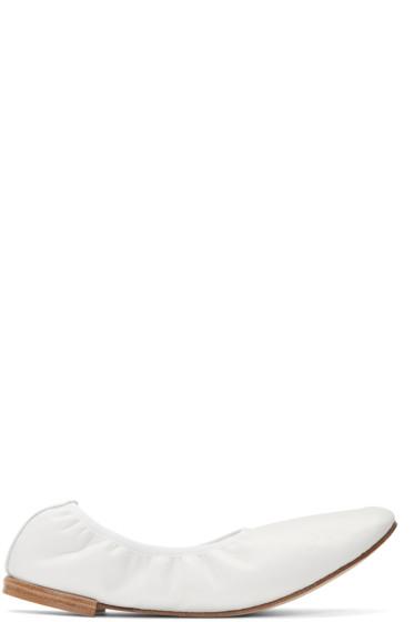 Repetto - White Caruso Ballerina Flats