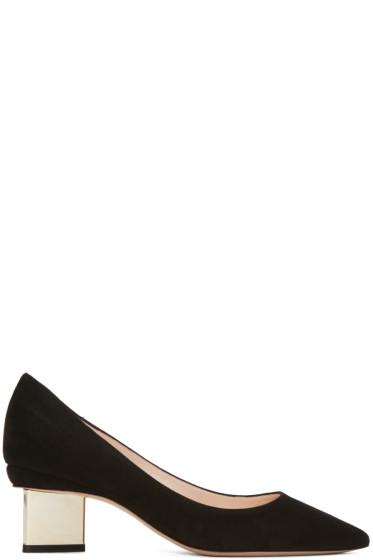 Nicholas Kirkwood - Black Suede Prism Heels