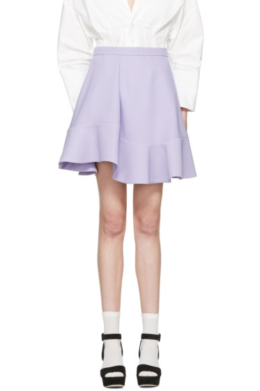 Carven - Purple Ruffle Skirt
