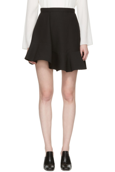 Carven - Black Ruffled Miniskirt