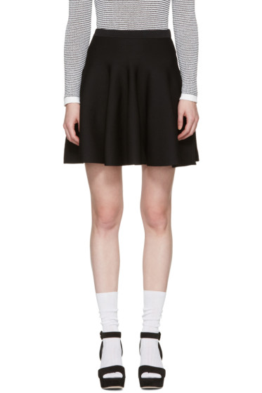 Carven - Black Knit Miniskirt