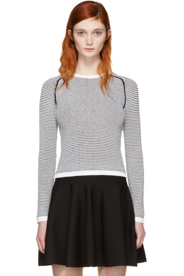 Carven - Black & White Knit Sweater