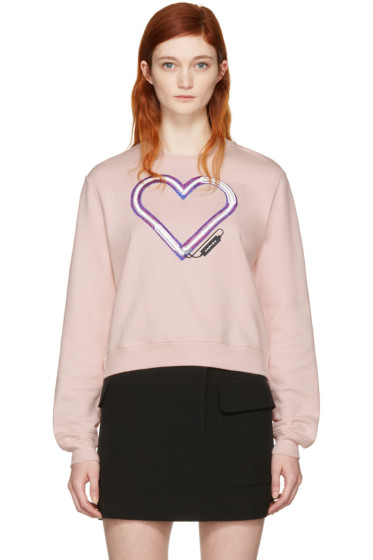 Carven - Pink Neon Heart Pullover