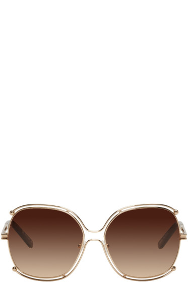 Chloé - Rose Gold Round Sunglasses