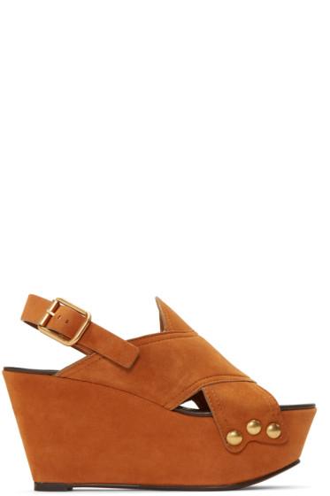 Chloé - Tan Mischa Platform Sandals