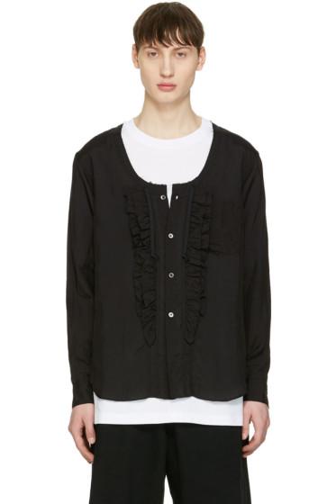 Comme des Garçons Homme Plus - Black Ruffle Shirt