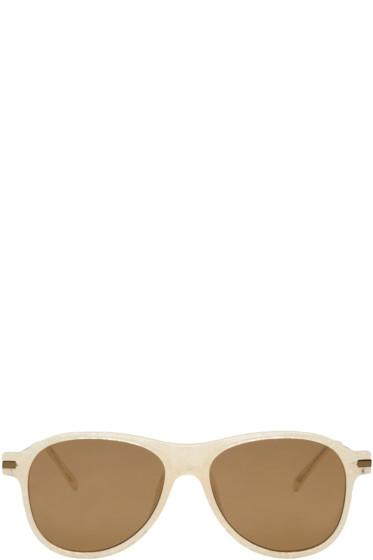 Dries Van Noten - Ivory Aviator Sunglasses