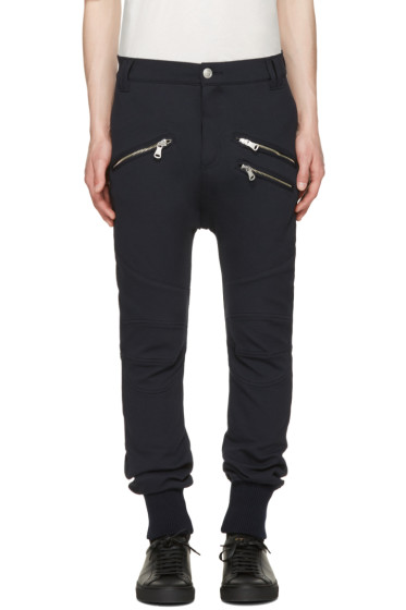 Pierre Balmain - Navy Zippered Lounge Pants
