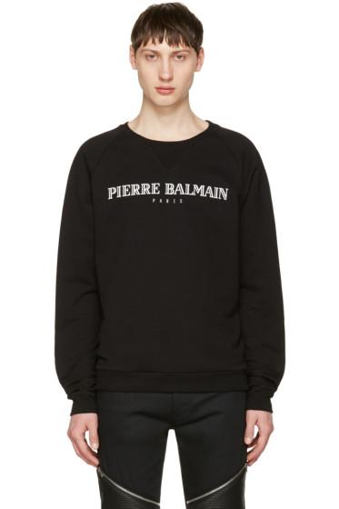 Pierre Balmain - Black Logo Pullover