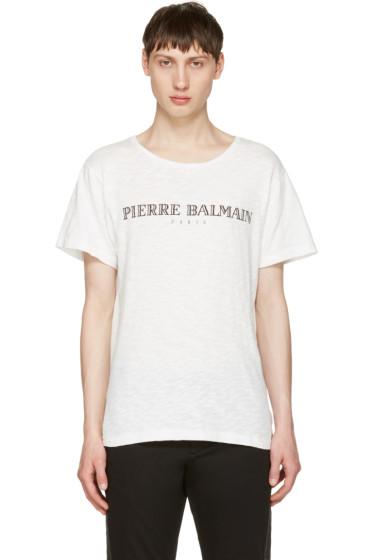 Pierre Balmain - Off-White Logo T-Shirt