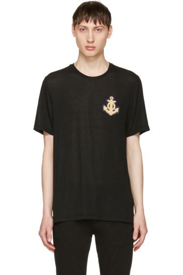 Pierre Balmain - Black Anchor T-Shirt