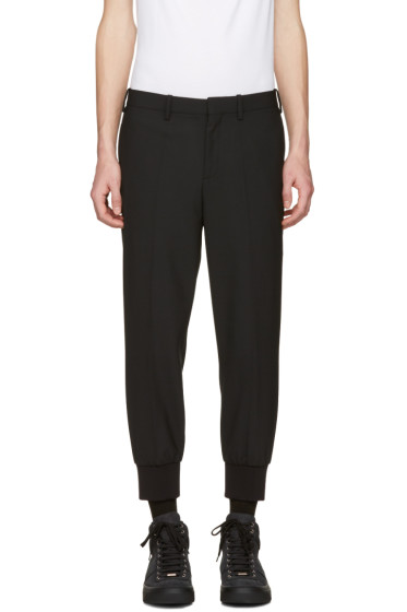 Neil Barrett - Black Cuff Detail Trousers