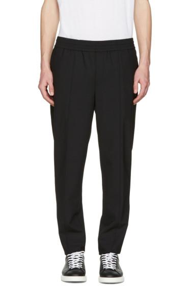 Neil Barrett - Black Stretch Gabardine Trousers