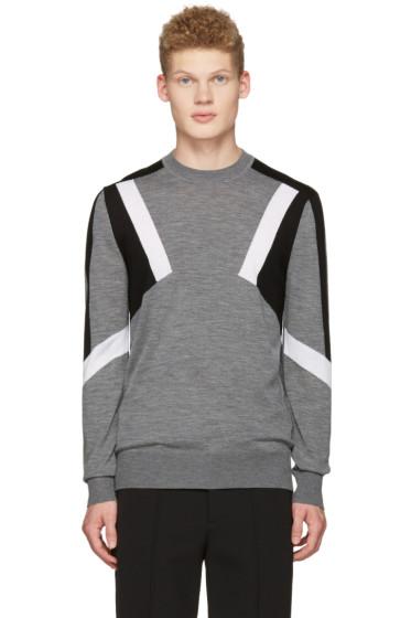 Neil Barrett - Grey Abstract Pullover