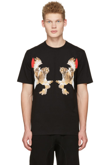 Neil Barrett - Black Two Owl T-Shirt