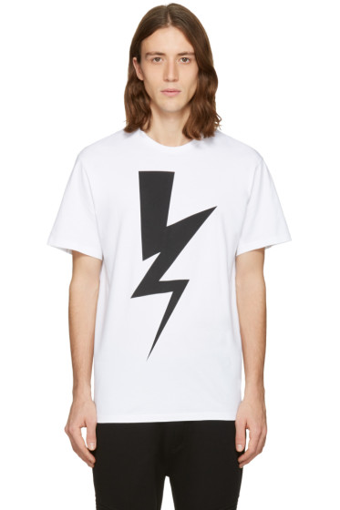 Neil Barrett - White One Thunder T-Shirt