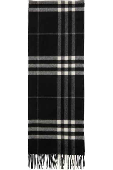 Burberry - Black Check Giant Icon Scarf