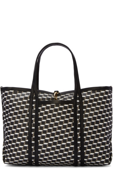 Pierre Hardy - Tricolor Canvas Perspective Cube Tote