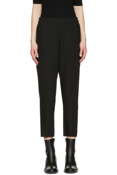 Ann Demeulemeester - Black Wool Crop Trousers