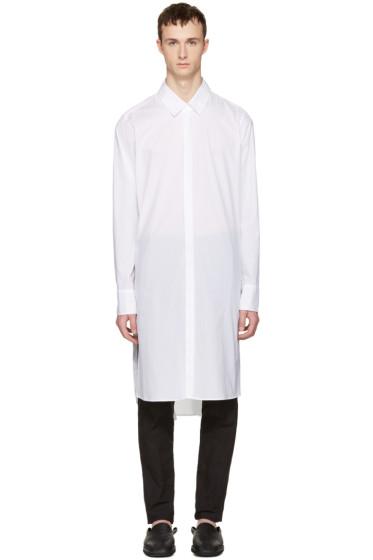 Ann Demeulemeester - White Long Shirt