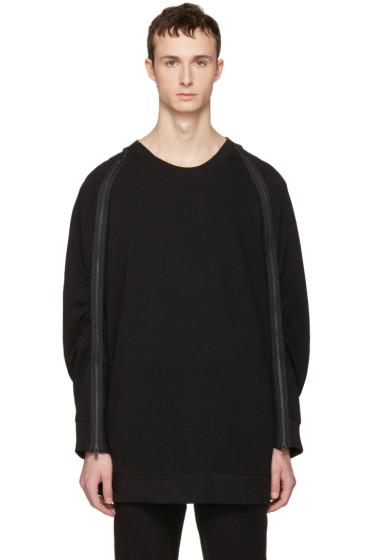 Ann Demeulemeester - Black Zip Pullover