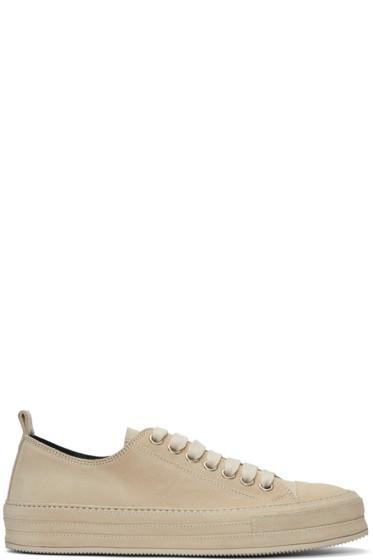 Ann Demeulemeester - Beige Suede Sneakers