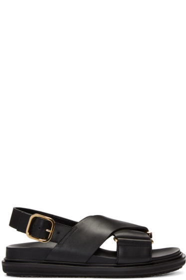 Marni - Black Fussbet Crossover Sandals