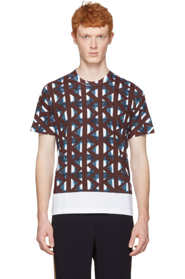 Marni - White & Multicolor Thrum Print T-Shirt