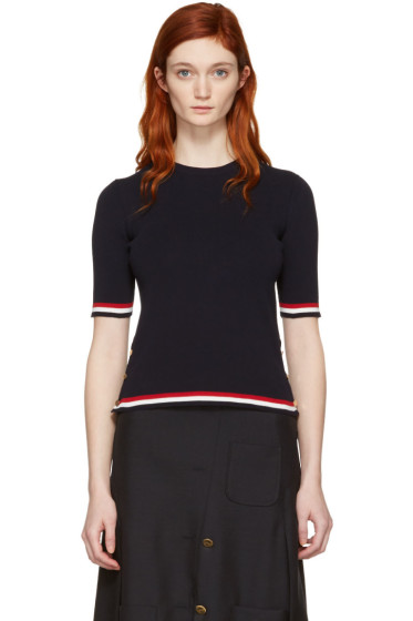 Thom Browne - Navy Open Stitch Pullover