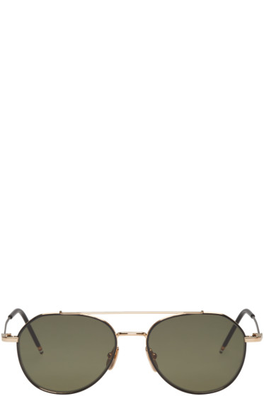 Thom Browne - Black & Gold TB 105 Sunglasses