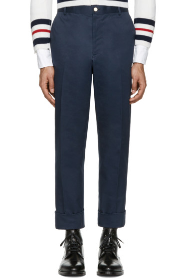 Thom Browne - Navy Twill Classic Chino Trousers