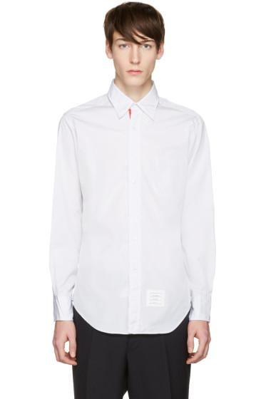 Thom Browne - Grey Poplin Classic Shirt