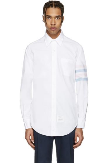 Thom Browne - White Classic Four Bar Shirt