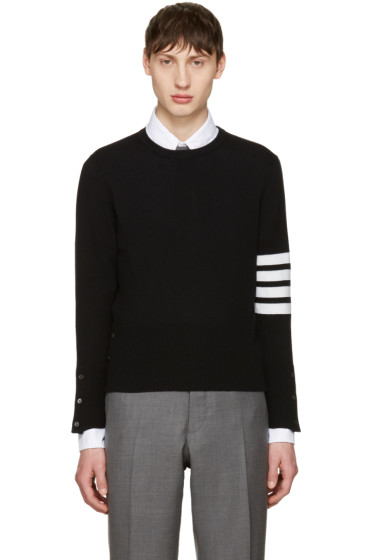 Thom Browne - Black Classic Crewneck Short Pullover