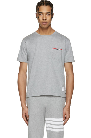 Thom Browne - Grey Pocket T-Shirt
